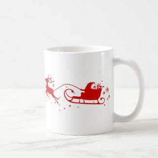 Caneca De Café Cup Reindeers and Papai Noel