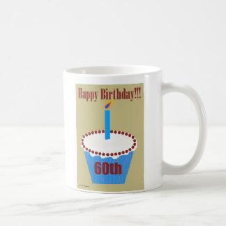 Caneca De Café Cupcake 60th do aniversário
