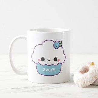 Caneca De Café Cupcake bonito do mirtilo