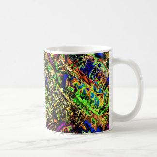 Caneca De Café Curvas coloridas caóticas
