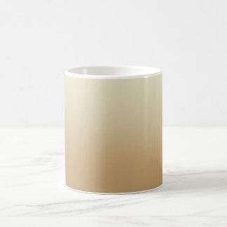 Caneca de café customizável Brown e fundo bege