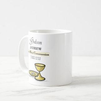 Caneca De Café Customizável, cálice do comunhão do Godson