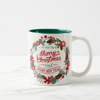 Caneca de café customizável da grinalda da foto