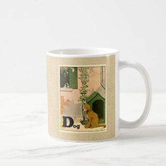 Caneca De Café D é para o cão - golden retriever e Terrier