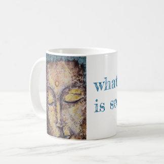 Caneca de café da arte de Buddha das citações do
