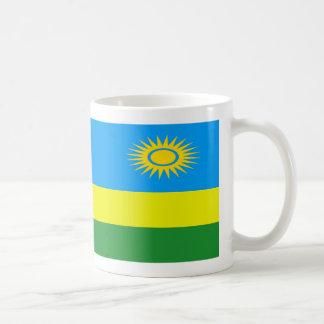 Caneca de café da bandeira de Rwanda