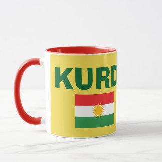 Caneca de café da bandeira do Curdistão