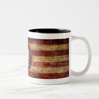 Caneca de café da bandeira do projeto de Montana