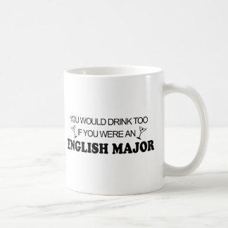 Caneca De Café Da bebida major inglês demasiado -