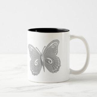 Caneca de café da borboleta