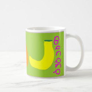 """Caneca De Café Da """"caneca de café laranja e da banana"""""""