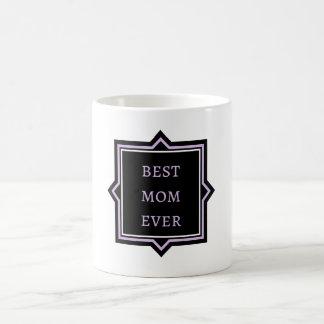 """Caneca De Café Da """"caneca preta & malva das citações melhor mamã"""