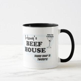 Caneca de café da casa da carne de Harry