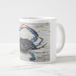Caneca de café da colagem 20oz do caranguejo azul