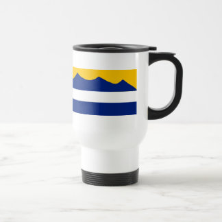 Caneca de café da cordilheira da bandeira de