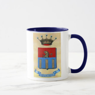 Caneca de café da crista de Pierantozzi