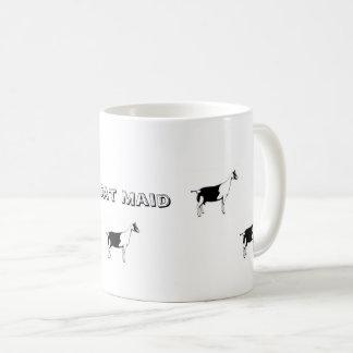 Caneca de café da empregada doméstica da cabra