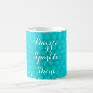 Caneca de café da faísca do Aqua