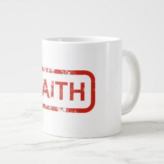 Caneca de café da fé