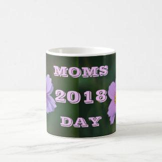 Caneca de café da flor de 2018 dias das mães por