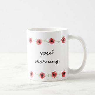 """Caneca de café da flor do """"bom dia"""""""