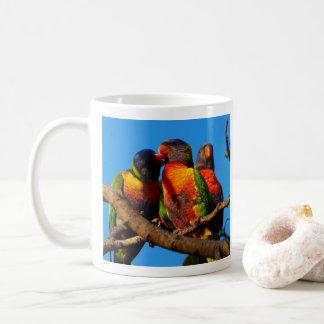 Caneca de café da foto de Lorikeet do arco-íris