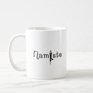 Caneca de café da ioga de Namaste