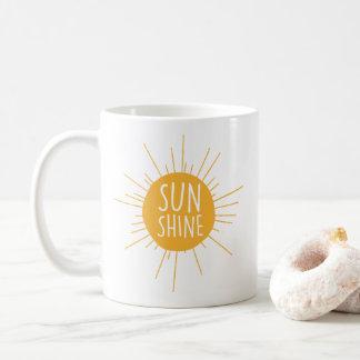 Caneca de café da luz do sol