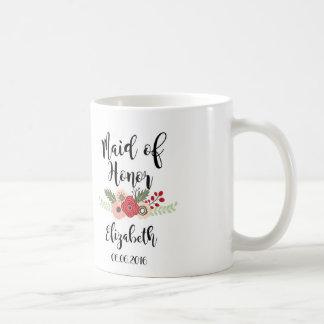 Caneca de café da madrinha de casamento