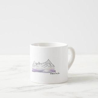 Caneca de café da manhã das montanhas/Himalayas de