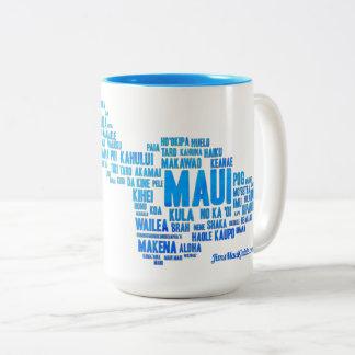 Caneca de café da nuvem da palavra de Maui