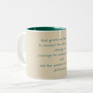 Caneca de café da oração da serenidade
