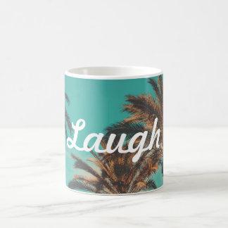 Caneca de café da palmeira do riso