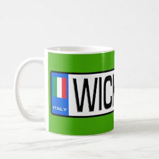 Caneca de café da placa de WickedCar euro-