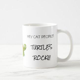 Caneca de café da rocha das tartarugas