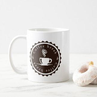 Caneca de café da ruptura de café