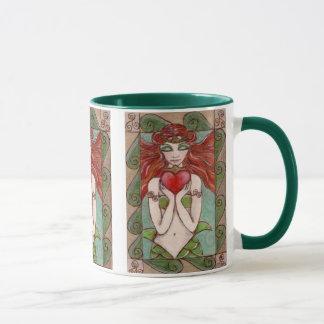 caneca de café da sereia do claddagh