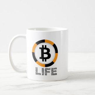 Caneca de café da vida de Bitcoin (BTC)