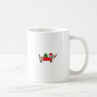 Caneca De Café Dachshund do Natal