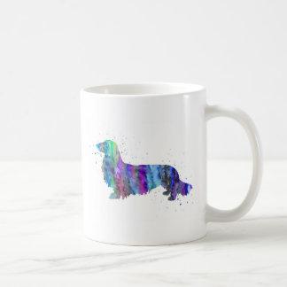 Caneca De Café Dachshund, impressão da aguarela do cão do