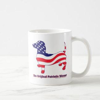 Caneca De Café Dachshund patriótico - Doxie