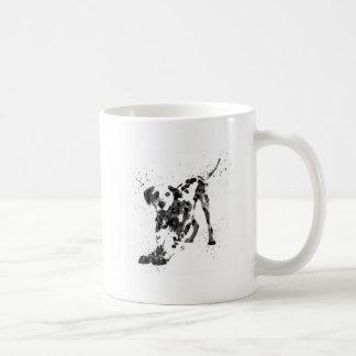Caneca De Café Dalmatian, cão Dalmatian, Dalmatian da aguarela