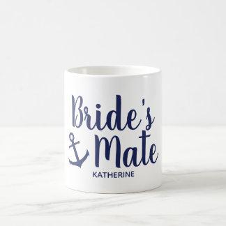 Caneca De Café Dama de honra da âncora do companheiro da noiva