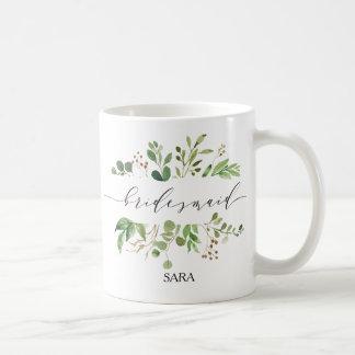 Caneca De Café Dama de honra Personalized-11 das hortaliças