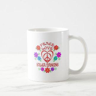 Caneca De Café Dança da salsa do amor da paz