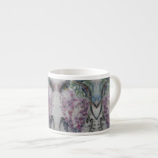 Caneca de café das glicínias