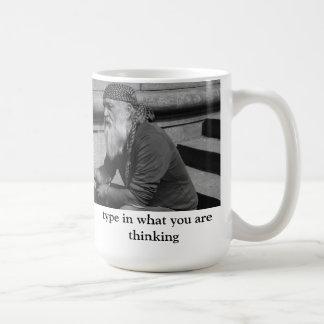 Caneca De Café datilografe o que você está pensando