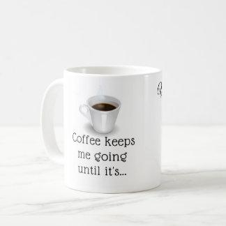 caneca de café de 11 onças com citações do vinho