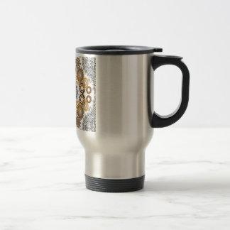 Caneca de café de aço inoxidável do laço e das