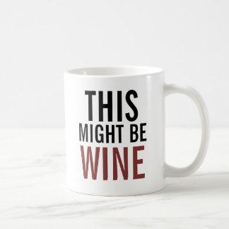 Caneca de café de amante de vinho